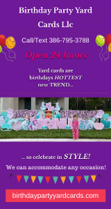 Birthday Party Yard Signs
