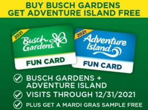 Busch Gardens Fun Card